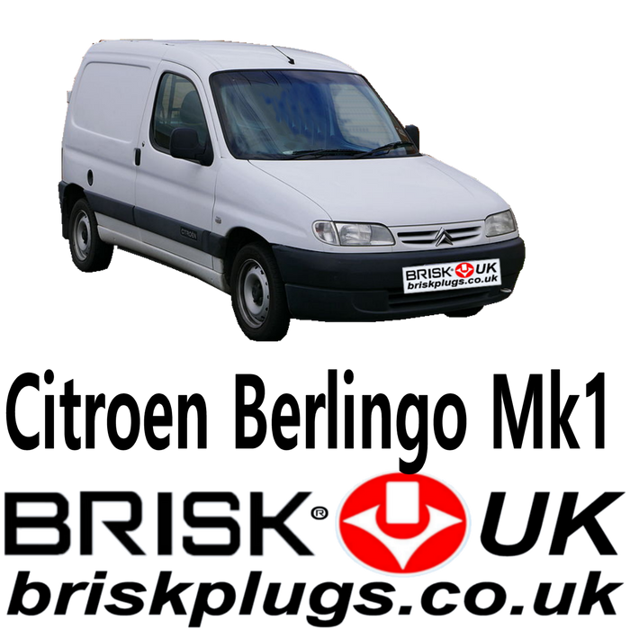 Citroen Berlingo Spark Plugs 1.1 1.4 1.6 1.8 96-07 Brisk Performance LPG