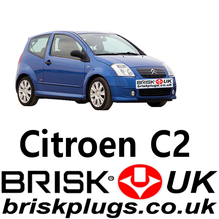 Citroen C2 Brisk Racing Spark Plugs 1.1 1.4 1.6 02-09