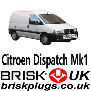 Citroen Dispatch spark plugs brisk premium lpg gpl cng methane e85 plugs