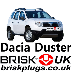 Dacia Duster spark plugs brisk performance upgrade lpg cng gpl plug