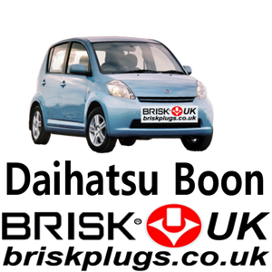 Daihatsu Boon Sirion Justy Brisk spark plugs performance lpg cng