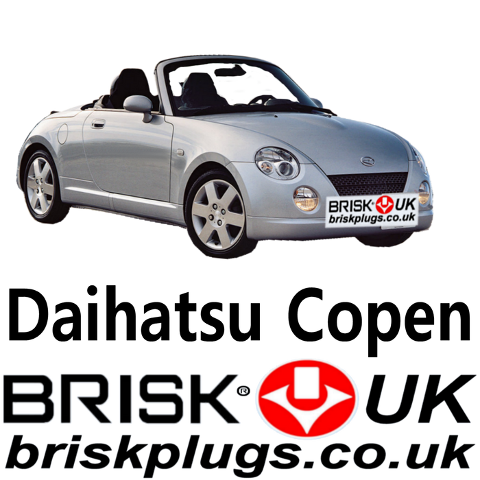 Daihatsu Copen Racing Spark Plugs UK 0.66 Turbo 1.3 03-14 Brisk UK
