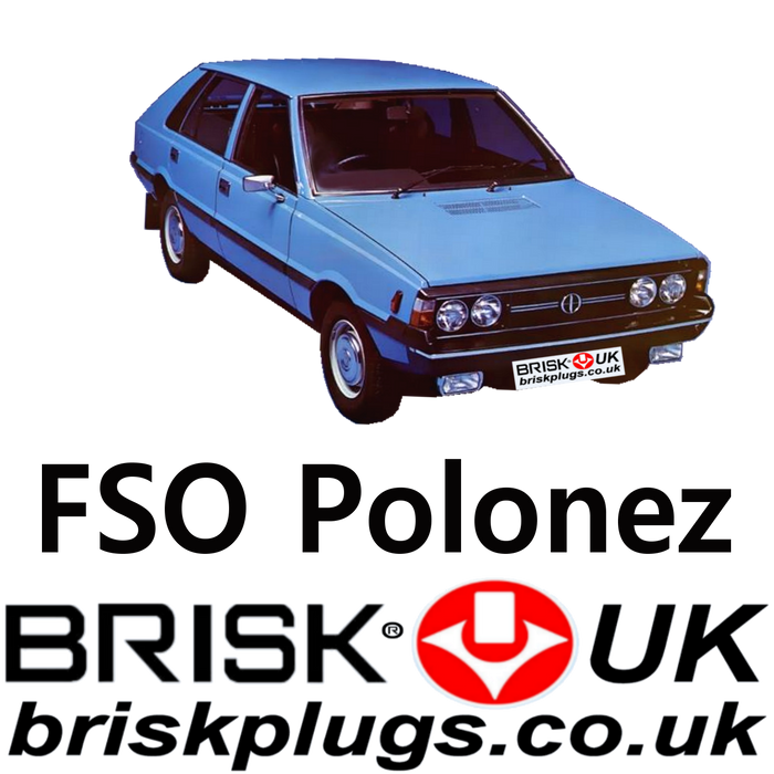 FSO Polonez Brisk Performance Spark Plugs 1.3 1.5 1.6 77-92 LPG CNG Metan