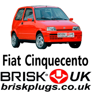 Fiat Cinquecento replacement spark plugs brisk racing uk