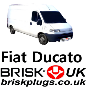 Fiat Ducato Van Replacement spark plugs lpg cng metano Brisk UK