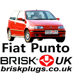 Fiat Punto GT GT3 Turbo Brisk Spark Plugs Racing Tuning LPG GPL Methane
