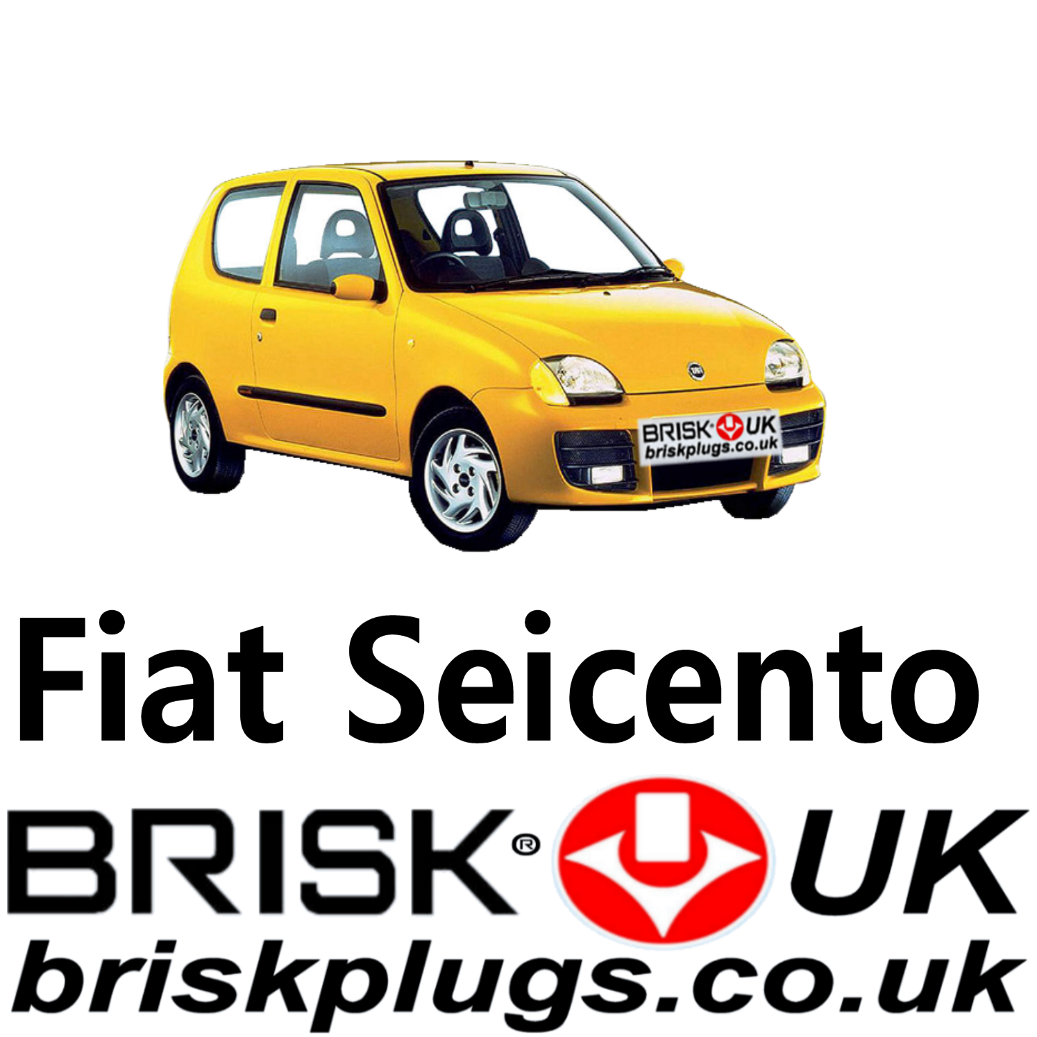 Fiat Seicento Brisk Spark Plugs Sporting 0 9 1 1 98-08 Tuning Racing