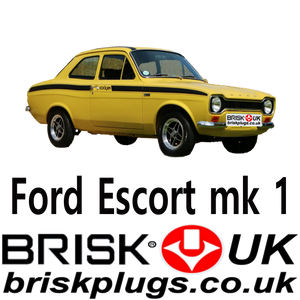 Ford Escort Mk1 Racing Spark Plugs Brisk RS1600 BDA BDB Pinto Engine