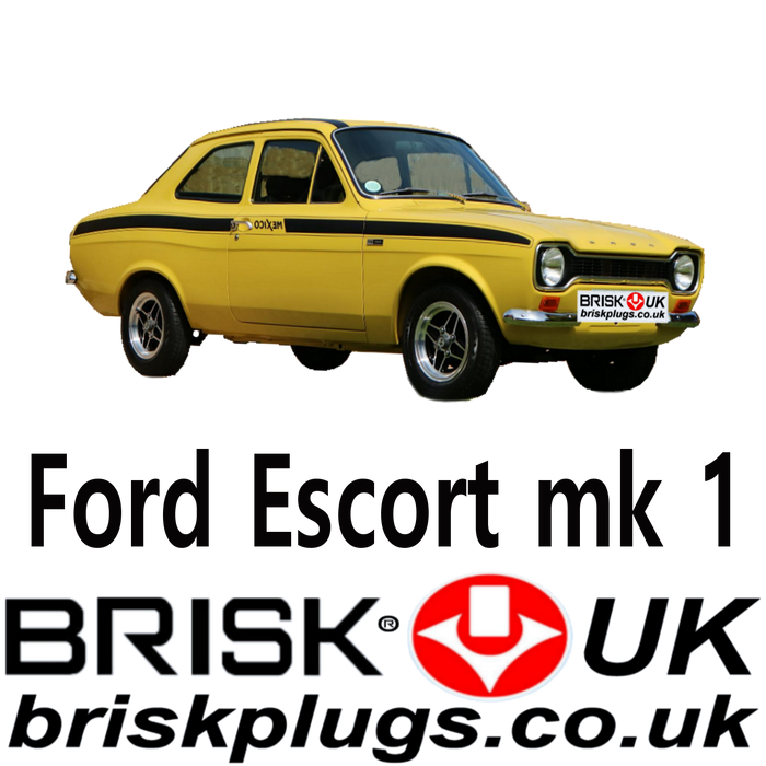 Ford Escort Mk1 Brisk Performance Spark Plugs 1.1 1.3 1.6 68-76