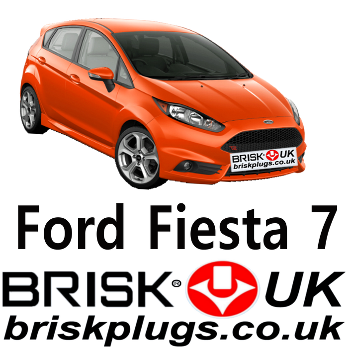 Ford Fiesta Mk7 Brisk Performance Spark Plugs 1.25 1.4 1.6 ST Ecoboost 08-17