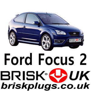 Ford Focus 2 ST RS replacement recommended spark plugs Brisk Plugs EU USA