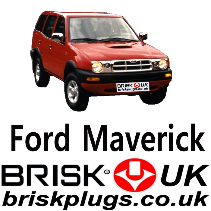 Ford Maverick 1 Brisk Spark Plugs 2.4 93-99 LPG CNG Methane