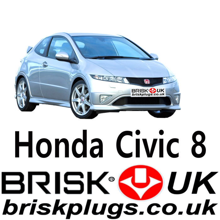 Honda Civic 8 Brisk Racing Spark Plugs 1.3 1.6 1.8 2.0 Type R 05-11