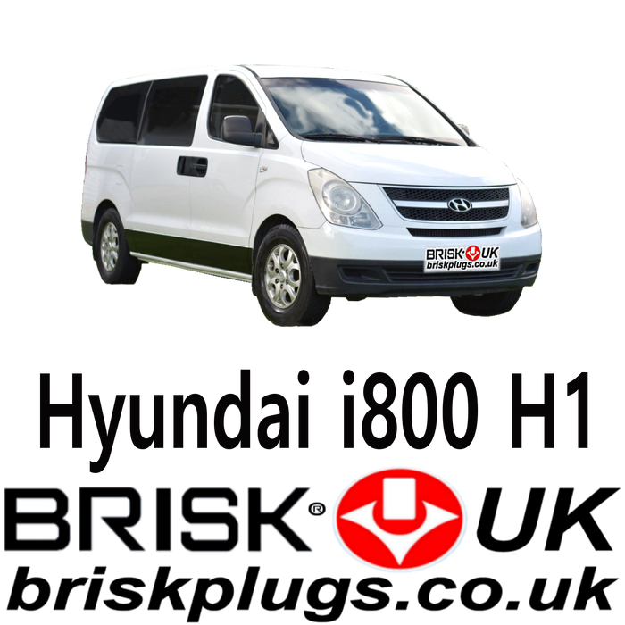 Hyundai i800 Van Replacement Brisk Spark Plugs LPG CNG GPL 2.4 06-17