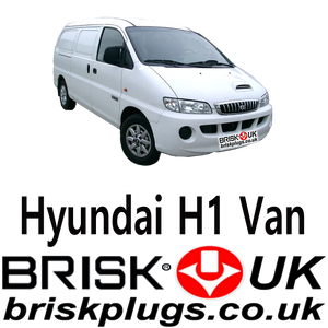 Hyundai H 1 Van Replacement Brisk Spark Plugs LPG CNG GPL 2.4 00-07