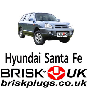 Brisk Racing Spark Plugs For Hyundai Santa FE Plugs For LPG CNG LNG Methane