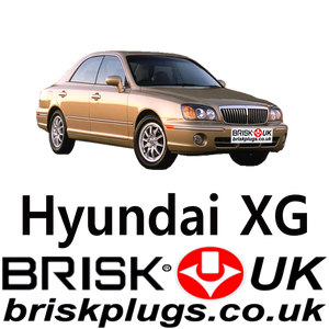 Brisk Racing Spark Plugs for Hyundai XG LPG CNG 2.5 3.0 3.5 98-06