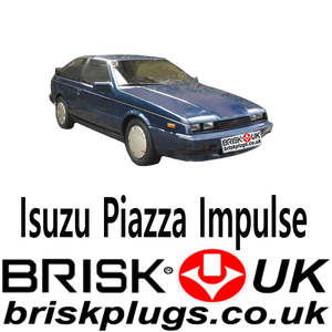 Brisk Spark Plugs Isuzu Piazza Impulse Turbo Racing LPG CNG 2.0 84-91