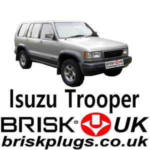 Brisk Spark Plugs Isuzu Trooper Racing LPG CNG Metano 3.2 91-00