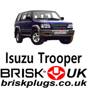 Brisk Spark Plugs Isuzu Trooper Racing LPG CNG Metano 3.5 99-08
