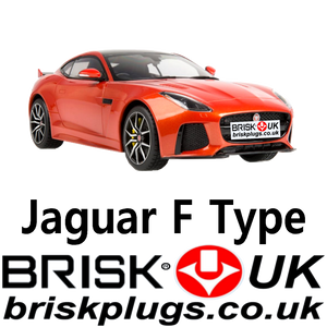 Jaguar F Type 3.0 5.0 Supercharged 12-19 Spark Plugs Brisk Racing UK