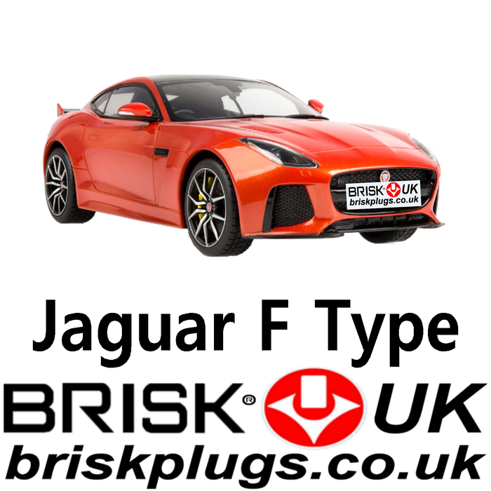 Jaguar F Type R 3.0 5.0 Supercharged 12-19 Spark Plugs Brisk Racing UK