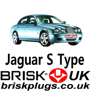 Jaguar S Type Replacement Brisk Spark Plugs Performance Tuning LPG Supercharged