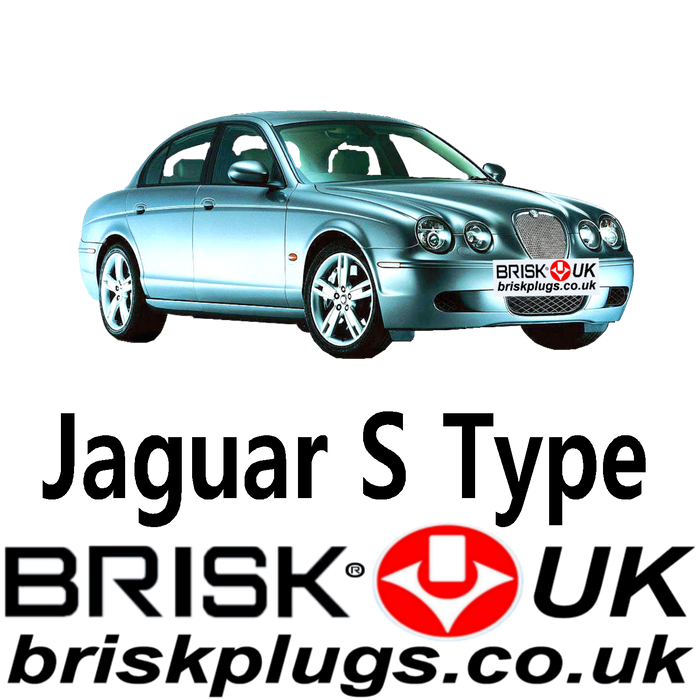 Jaguar S Type 2.5 3.0 4.0 4.2 Supercharged 99-08 Brisk Spark Plugs UK