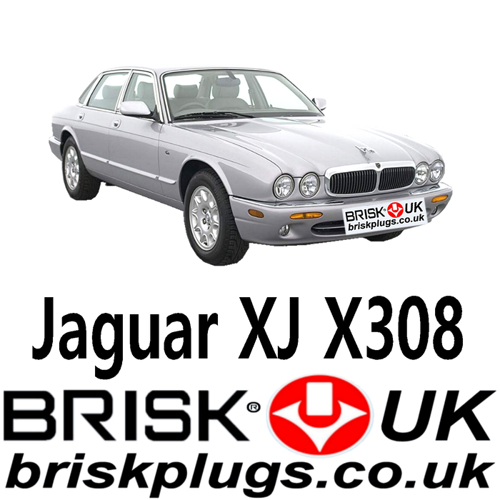 Jaguar XJ8 XJR X308 3.2 4.0 97-03 Brisk Spark Plugs UK