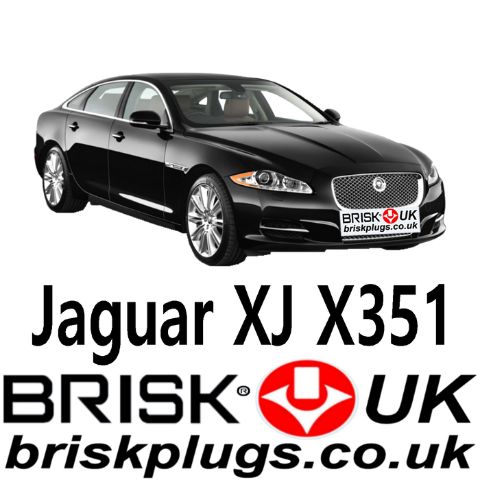 Jaguar XJ 8 XJR X351 2.0 5.0 Supercharged 09-18 Brisk Spark Plugs UK