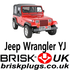 Jeep YJ Spark Plugs Mopar replacement recommended Brisk Racing UK USA AU