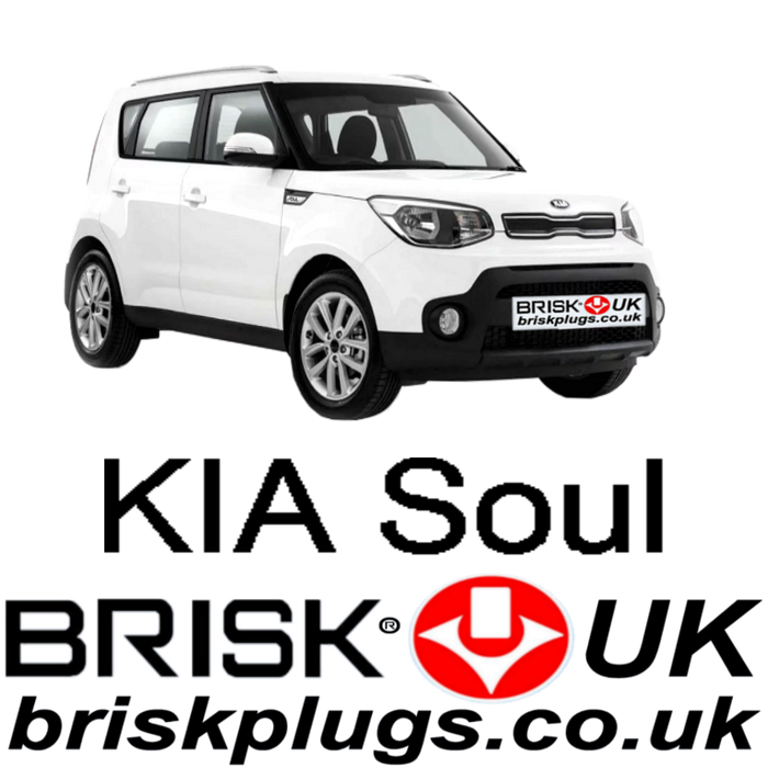 Kia Soul 1.4 1.6 09-14 Performance Brisk Racing Spark Plugs
