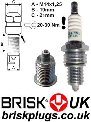 LR14ZC Replacement Spark Plugs For Ford Sierra 2..9i efi