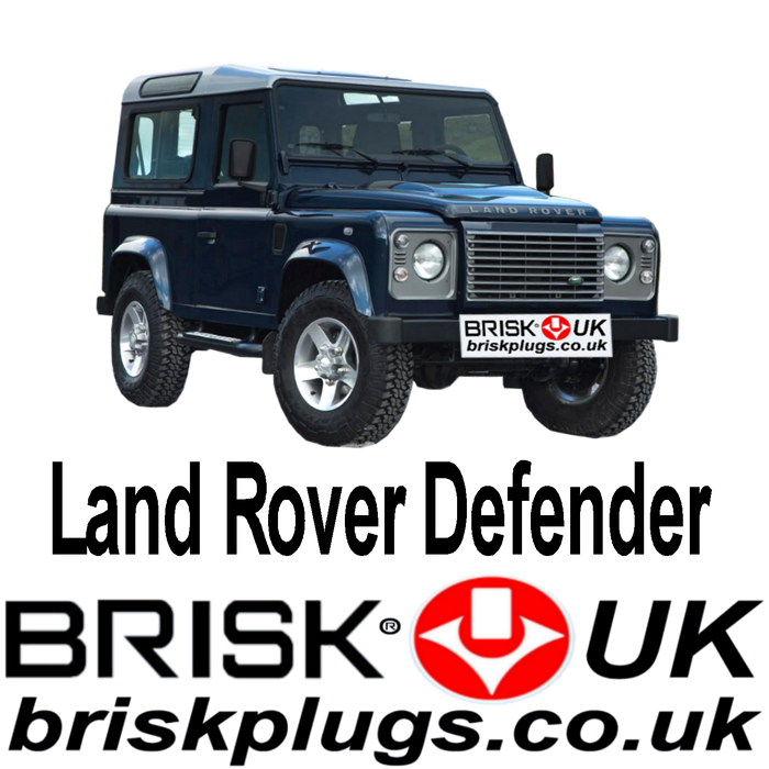 Land Rover Defender 2.25 2.5 3.5 3.9 83-16 Brisk Spark Plugs Tuning