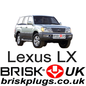 Lexus LX470 landcruiser recommended spark plugs lpg cng lng gpl fast shipping Brisk Racing UK