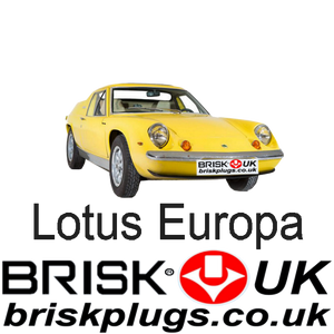 Lotus Europa 1.5 1.6 Renault Ford 66-76 Brisk Racing Spark Plugs