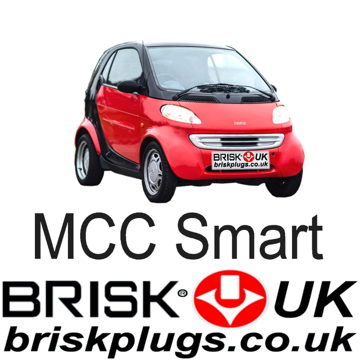 Smart City Coupe Fortwo W450 0.6 0.7 98-07 Brisk Tuning Spark Plugs