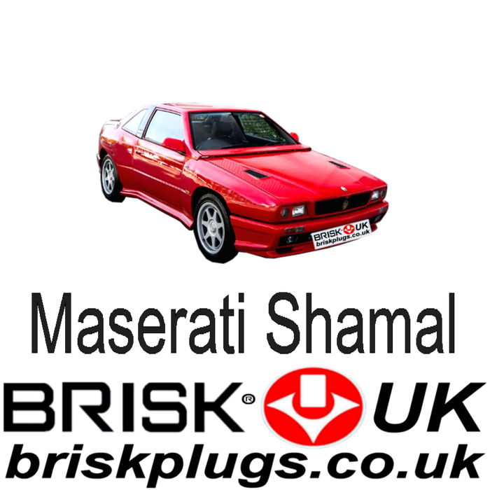 Maserati Shamal 3.2 V8 Bi Turbo 89-96 Brisk Racing Spark Plugs