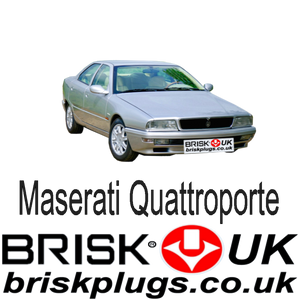 Maserati quattroporte Spark plugs recommended replacement spares 2800 turbo v6 V8 Brisk Racing UK