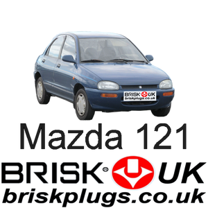 Mazda 121 DB Tuning Racing Brisk Spark Plugs NGK DENSO Replacement