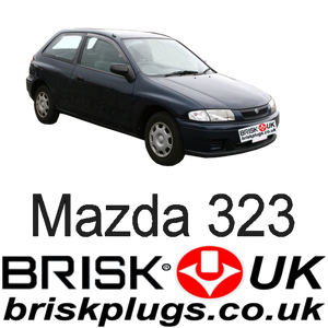 Mazda 323 BJ Protege Brisk Spark Plugs UK USA Asia Recommended Replacement