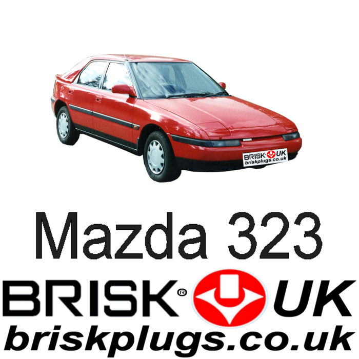 Mazda 323 1.3 1.6 1.85 Turbo 4x4 89-94 Brisk Performance Spark Plugs