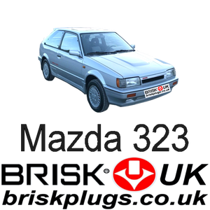Mazda 323 BF Turbo 4x4 Brisk Spark Plugs Racing Performance replacement tuning