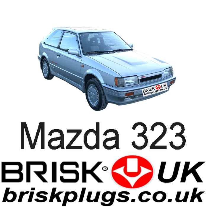 Mazda 323 1.1 1.3 1.4 1.5 1.6 Turbo 4x4 85-95 Brisk Performance Spark Plugs