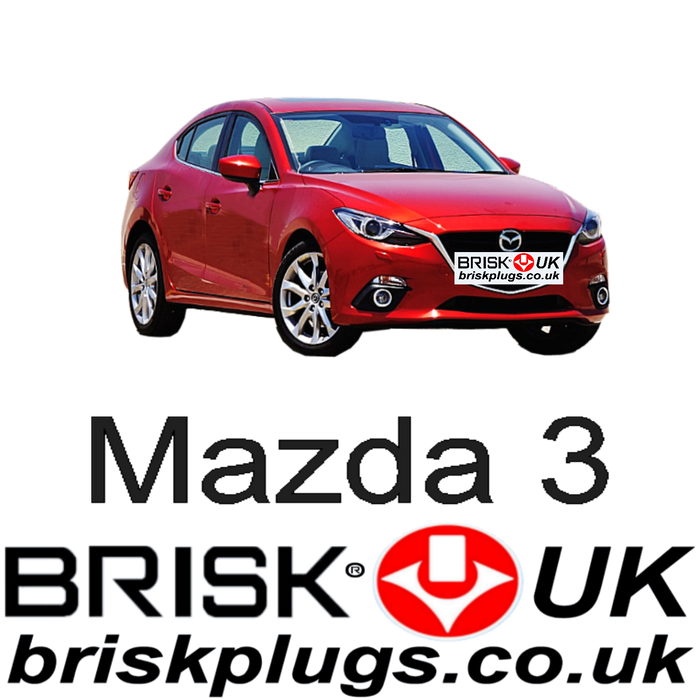 Mazda 3 1.5 2.0 SkyActiv 13-ON Brisk Racing Spark Plugs