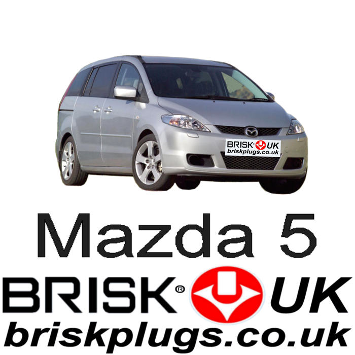 Mazda 5 1.8 2.0 2.3 05-10 Brisk Performance Spark Plugs