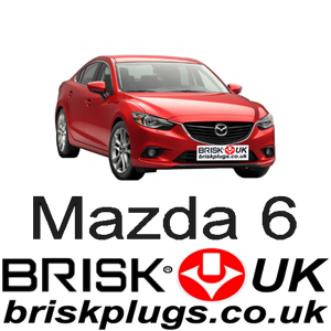 Mazda 6 GJ Replacement Brisk Spark Plugs Tuning Racing More power lower emissions