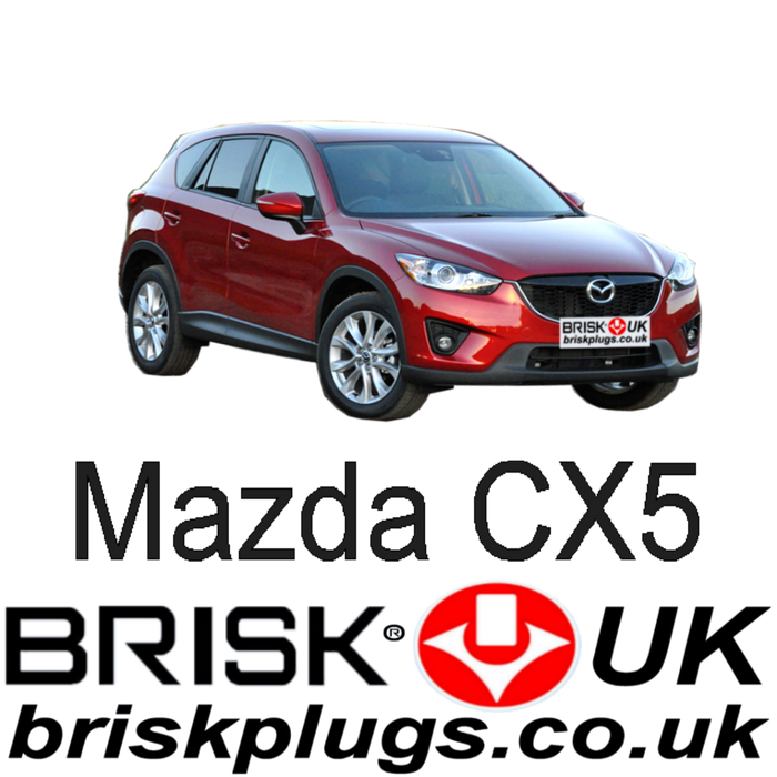 Mazda CX5 2.0 2.5 SkyActiv 12-ON Brisk Racing Spark Plugs
