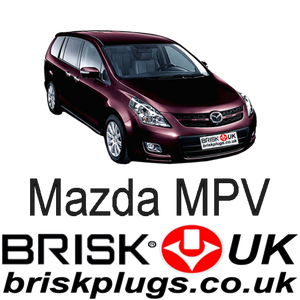 Mazda MPV Replacement Brisk Spark Plugs Racing Tuning LPG CNG LNG Replacement parts