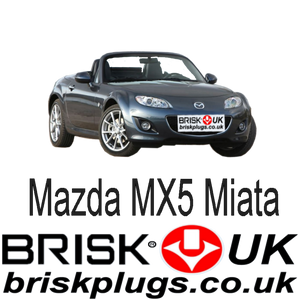 Mazda MX5 3 Miata performance upgrade Brisk Racing Spark Plugs tuning more power